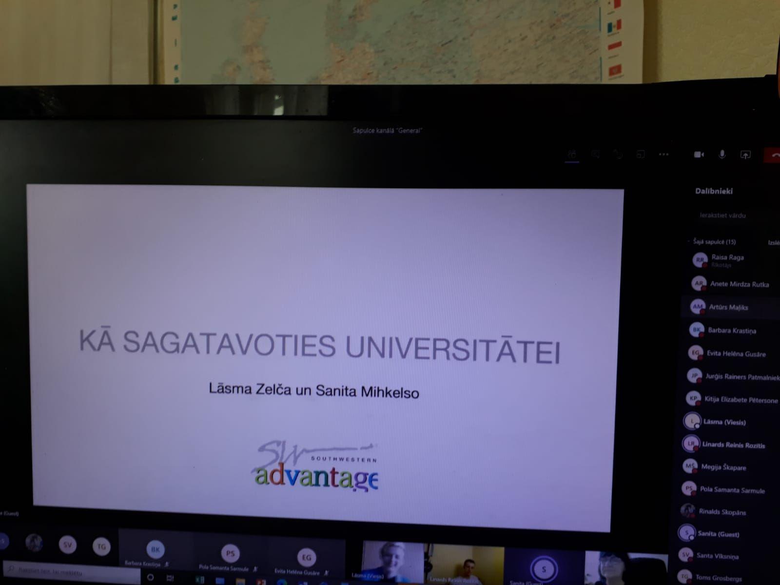 """Karjeras pasākums """"Kā sagatavoties universitātei""""    (PKK Raisa Raga)"""