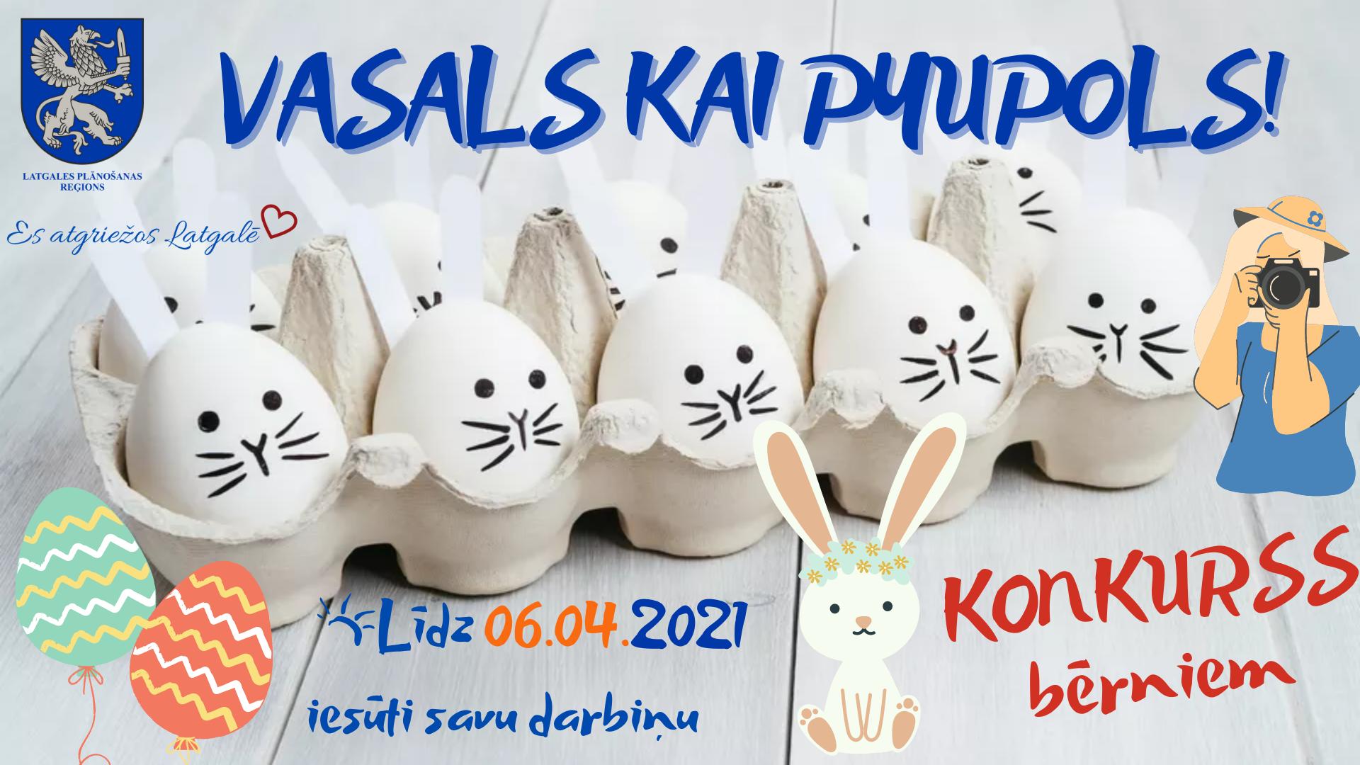 """Radošais konkurss bērniem """"Vasals kai pyupols!"""" noslēdzies"""