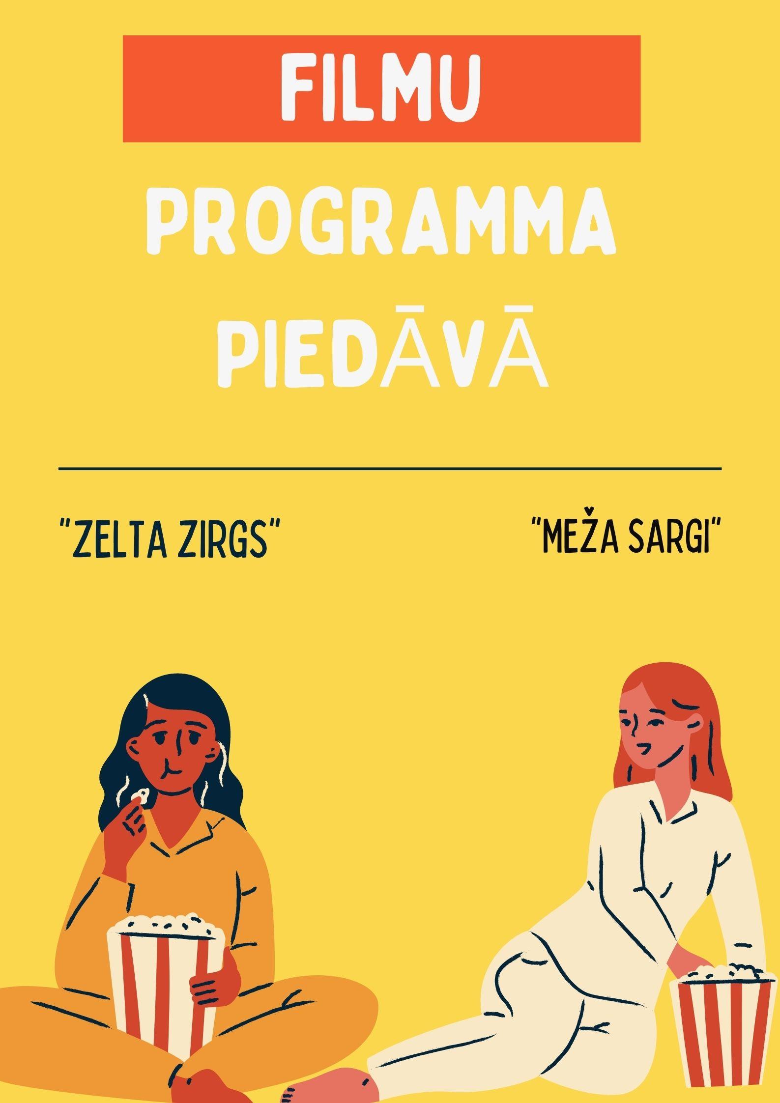 Baudām filmu programmas piedāvājumu (Alise Karuzina, Alise Maksimova, Aleksa Logina – 7.e klases skolnieces)